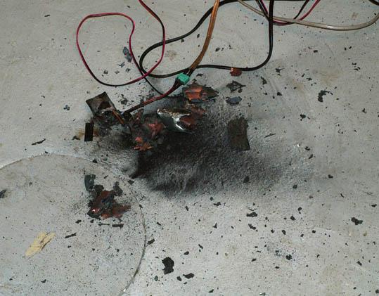 Li Po battery exploding